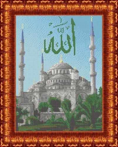 КК 047 Голубая мечеть  - схема для вышивания (Каролинка)
