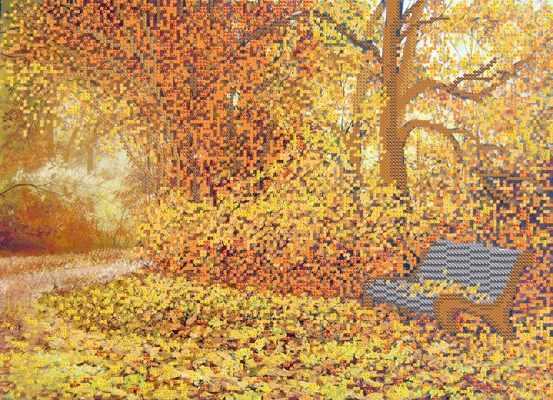 РКП-708 Осень в парке городском - схема для вышивания (Марiчка)