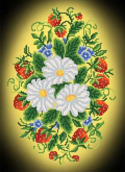 РКП-697 Застенчивая красота - схема для вышивания (Марiчка)