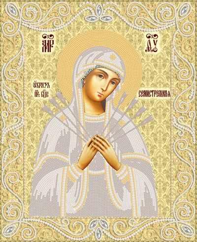 РИК-3-055 Образ Пресвятой Богородицы Семистрельная - схема для вышивания (Марiчка)
