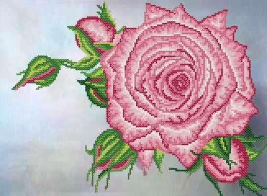 РКП-711 Роза - схема для вышивания (Марiчка)
