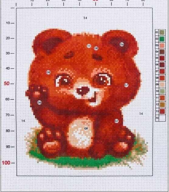 2765589 Канва для вышивания с рисунком «Мишутка»