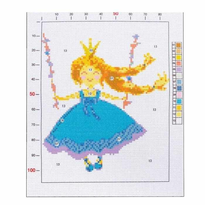 2765595 Канва для вышивания с рисунком «Принцесса»