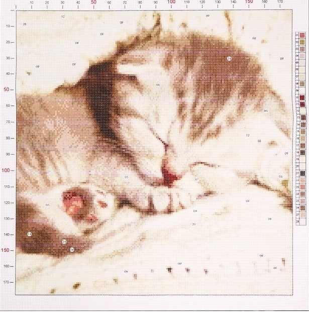 2765582 Канва для вышивания с рисунком «Котёнок»
