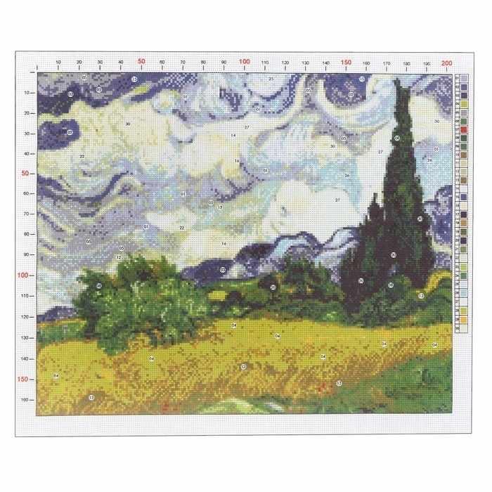 2985186 Канва для вышивания с рисунком «Ван Гог. Рожь»