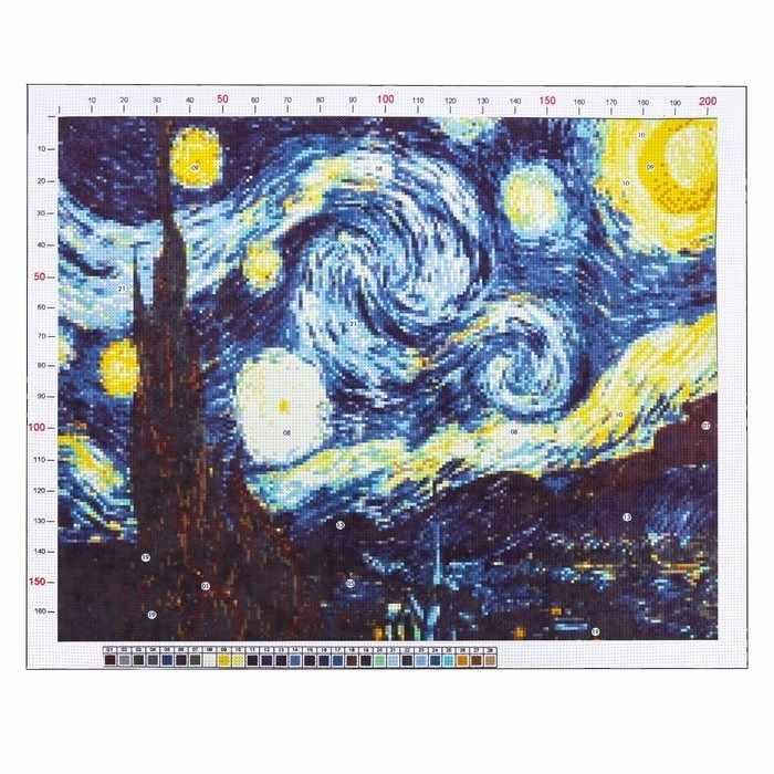 2765563 Канва для вышивания с рисунком «Ван Гог. Звездная ночь»