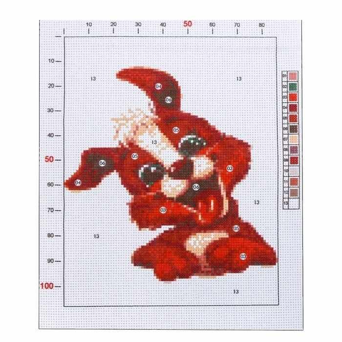 2765591 Канва для вышивания с рисунком «Пёсик»