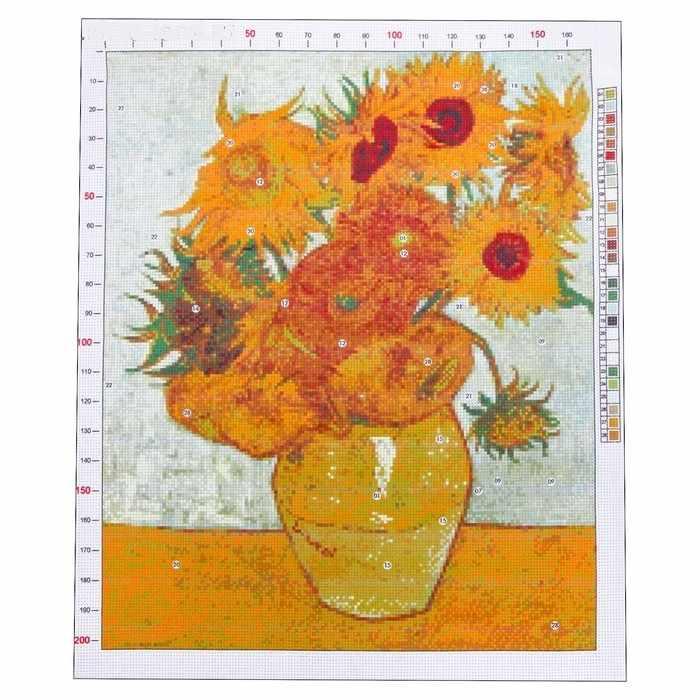 2765566 Канва для вышивания с рисунком «Ван Гог. Подсолнухи»