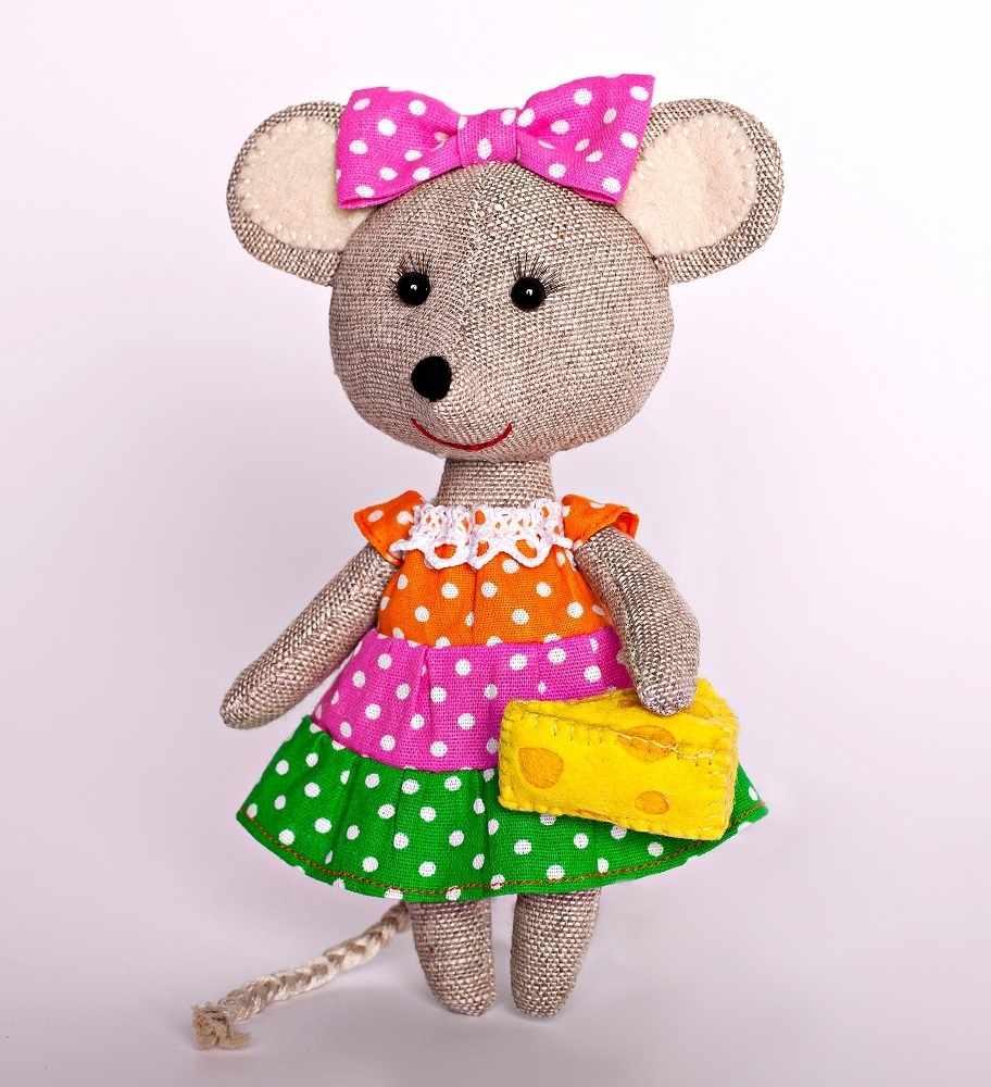 ПЛДК-1457 Мышка - норушка - игрушка (Перловка)