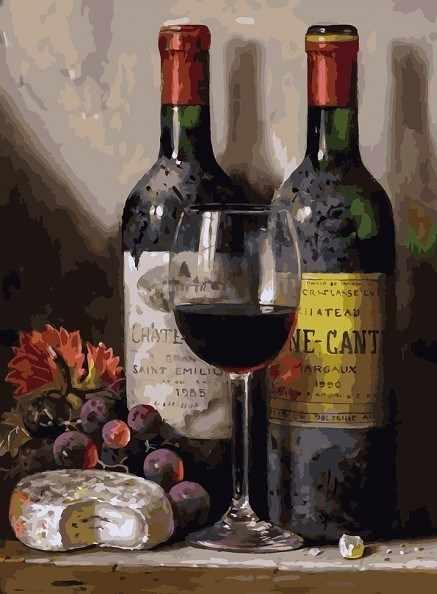 319-AS Вино, сыр и виноград - раскраска (Белоснежка)