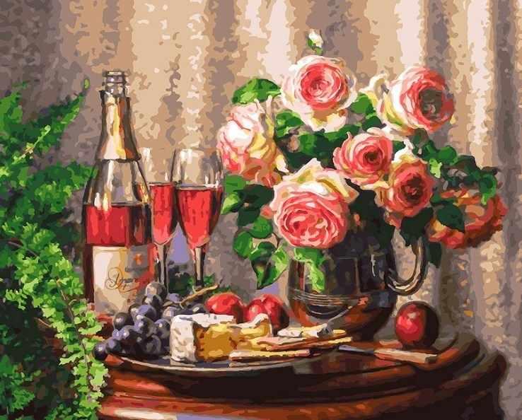 258-AB Розовое шампанское - раскраска (Белоснежка)