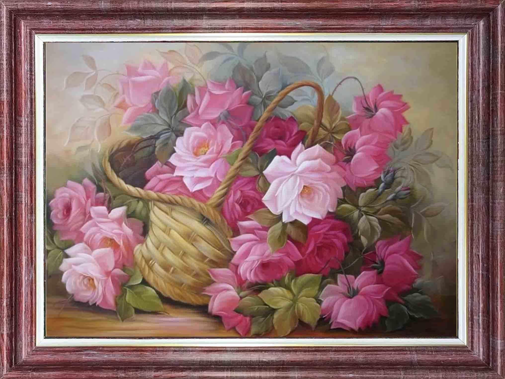 КЛ 3039 Розы в корзине - схема для вышивания (Каролинка)