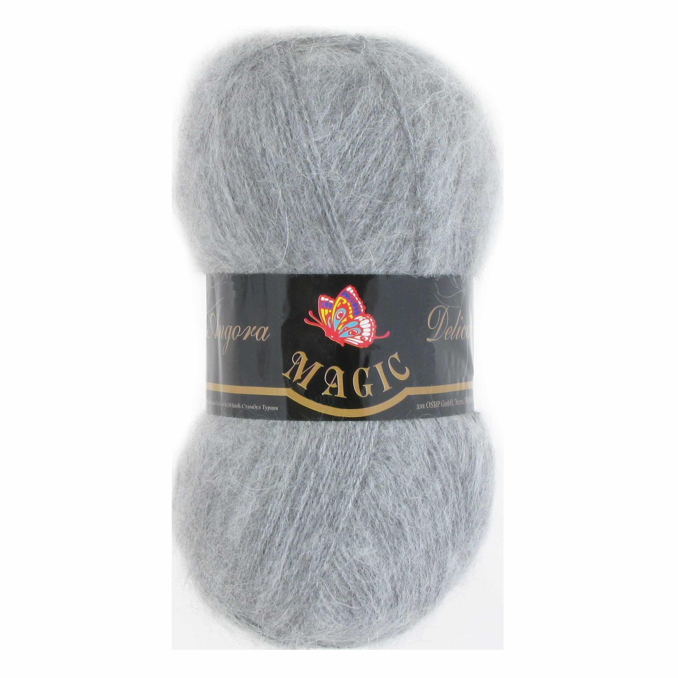 Пряжа Magic Angora Delicate Цвет.1129 Серый меланж