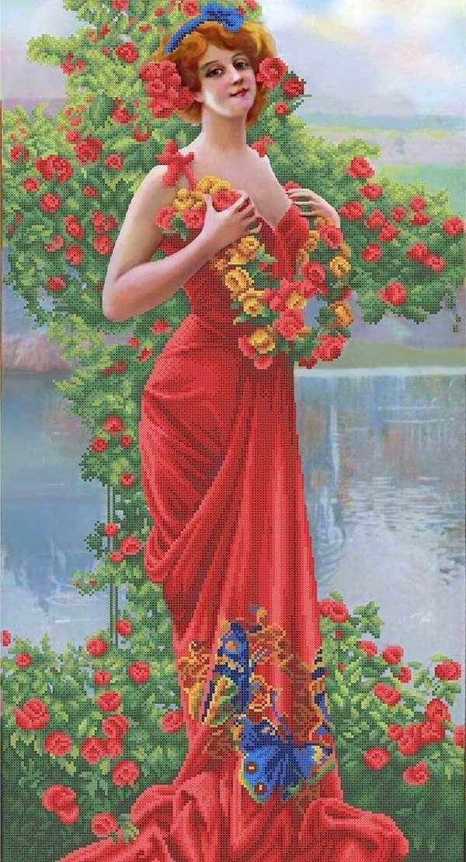 ММЖС-005 Восхищенная роза - схема для вышивания (MOSMARA)