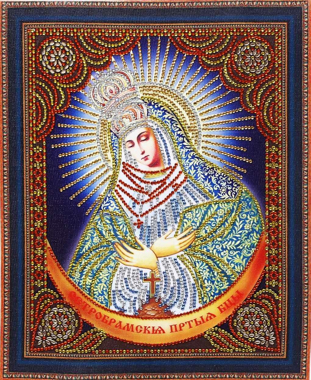 Алмазная вышивка TC113 Икона Остробрамская Богородица - мозаика Anya