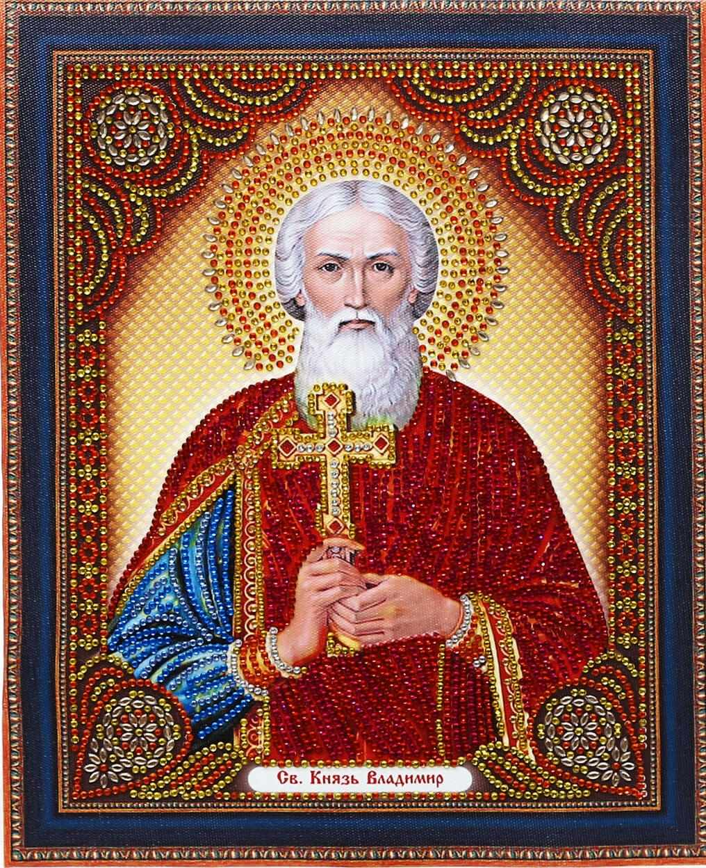 Алмазная вышивка TC115 Икона Святой Князь Владимир - мозаика Anya