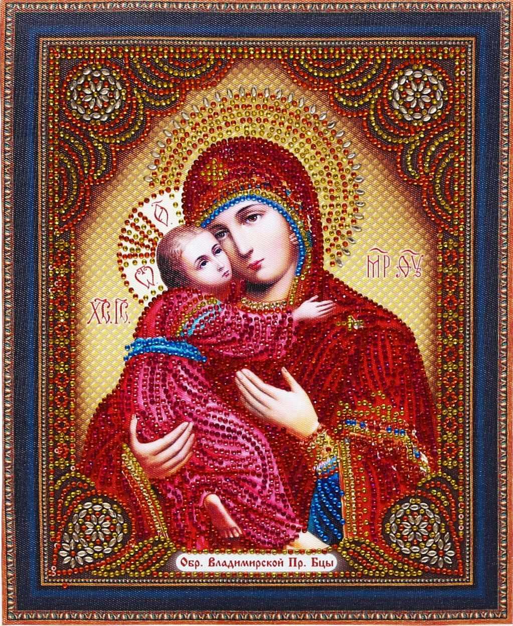 Алмазная вышивка TC104 Икона Владимирской Пресвятой Богородицы - мозаика Anya
