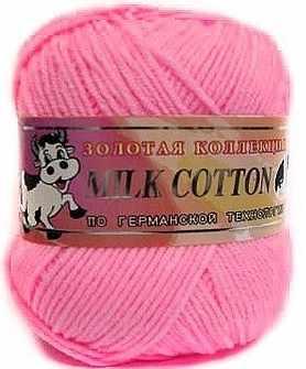 Пряжа Color City Милк коттон Цвет.021 розовый