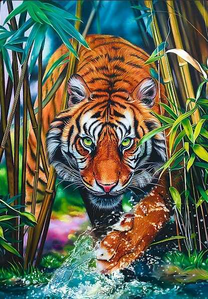 10528 Хищный тигр, 1000 деталей