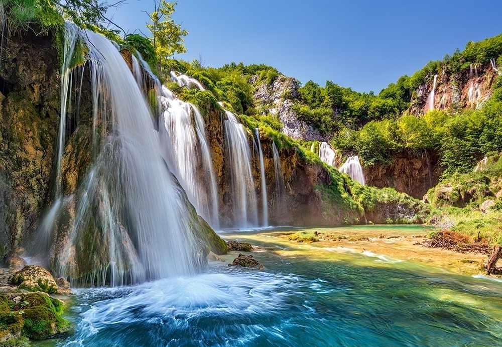 C-104185 Водопад.Хорватия , 1000 деталей