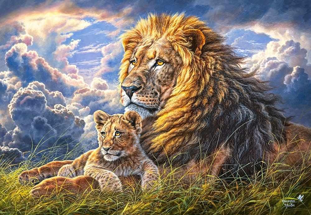 C-104277 Львы: отец и сын, 1000 деталей