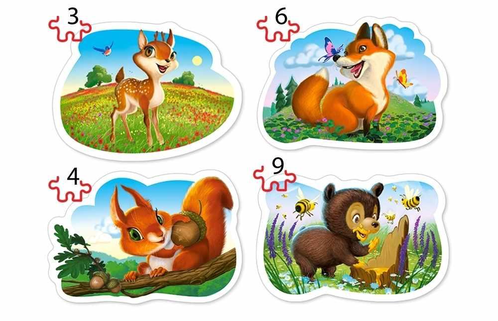 В-005079 Лесные животные, 3#4#6#9 деталей, CastorLand