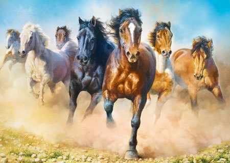 27098 Скачущееся стадо лошадей, 2000 деталей