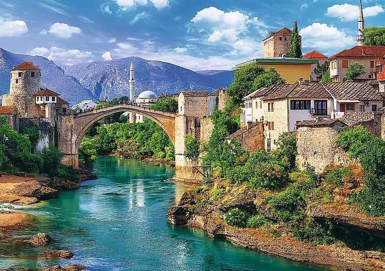 37333 Старый мост в Мостаре, Босния и Герцеговина, 500 деталей