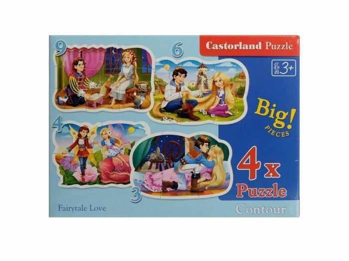 В-005093 Сказки о принцессах, 3#4#6#9 деталей, CastorLand