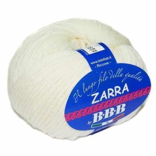 Пряжа BBB Filati ZARRA Цвет.7800 Молочный