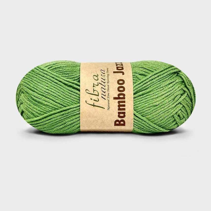 Пряжа Fibra Natura Bamboo Jazz Цвет.209 ярк.зелень