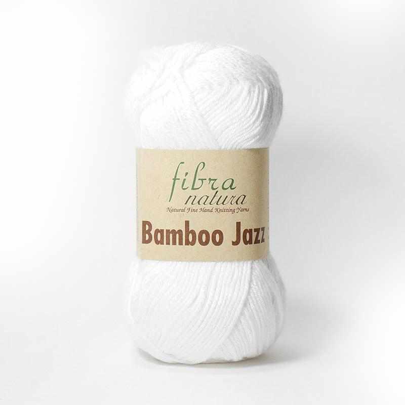 Пряжа Fibra Natura Bamboo Jazz Цвет.201 Белый