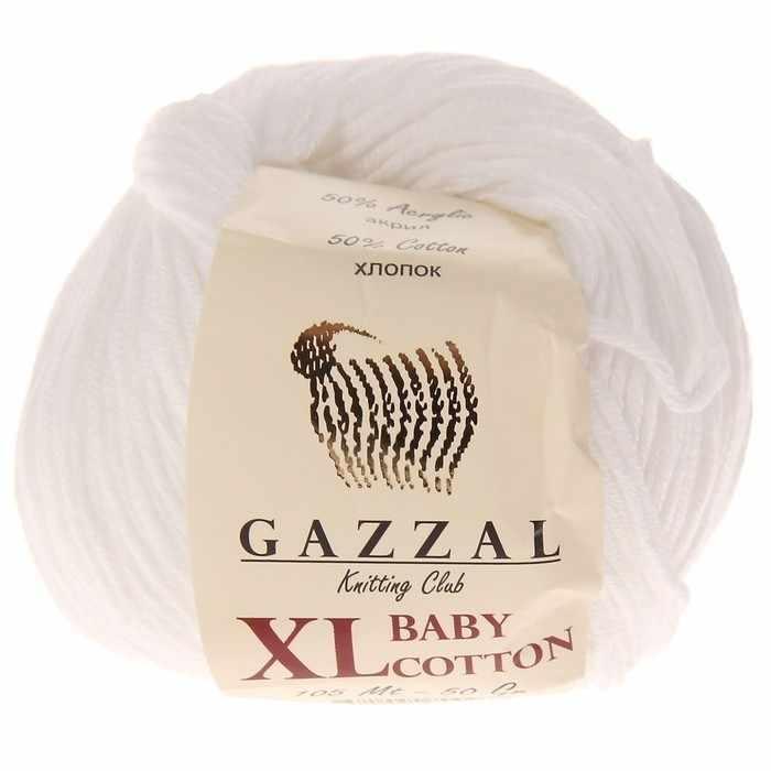 Пряжа  Baby Cotton XL Цвет.3432XL Белый
