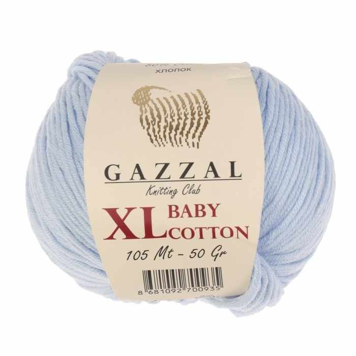 Пряжа GAZZAL Baby Cotton XL Цвет.3429XL Св.голубой