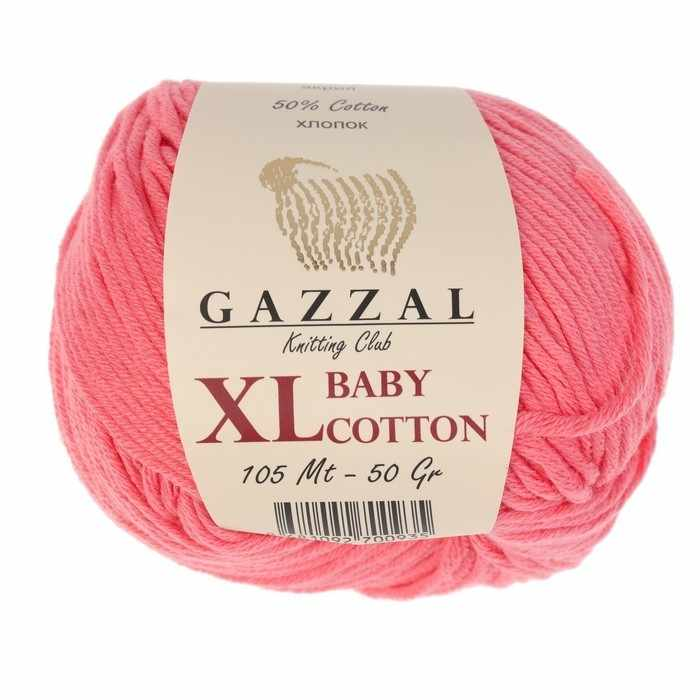 Пряжа GAZZAL Baby Cotton XL Цвет.3435XL Коралл