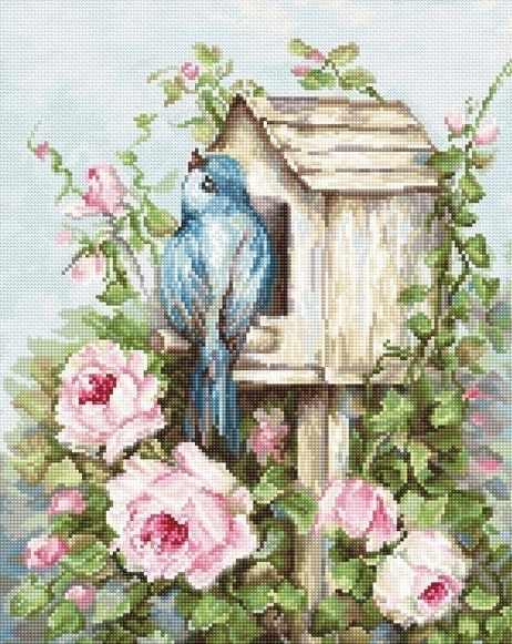 B2352 Птичий дом и розы (Luca-S)