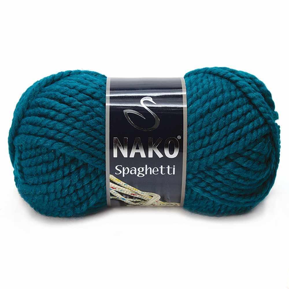 Пряжа Nako Spaghetti Цвет.2273 мор.волна