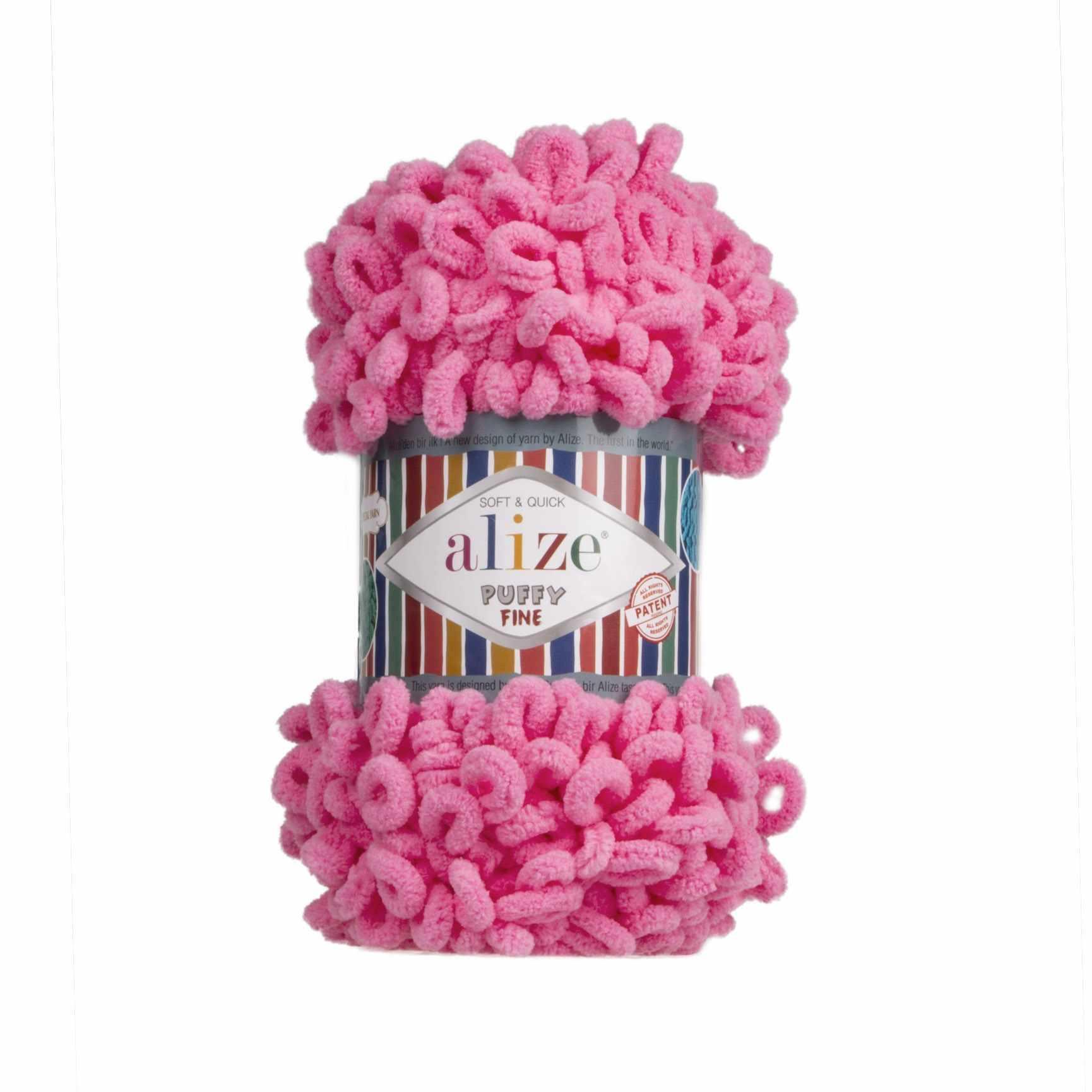 Пряжа Alize Puffy Fine Цвет.121 Розовый