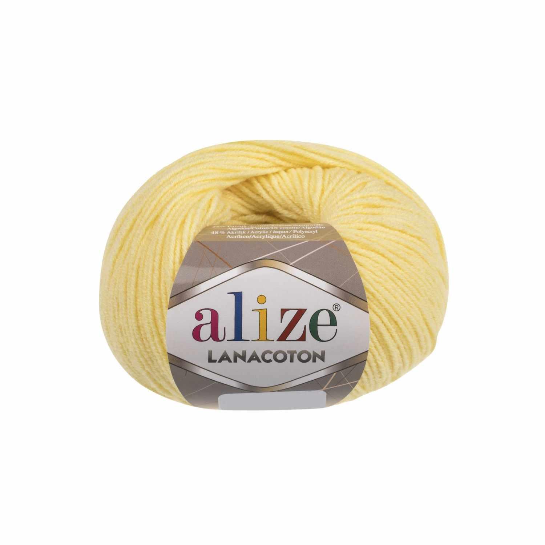 Пряжа Alize Lanacoton Цвет.187 Жёлтый