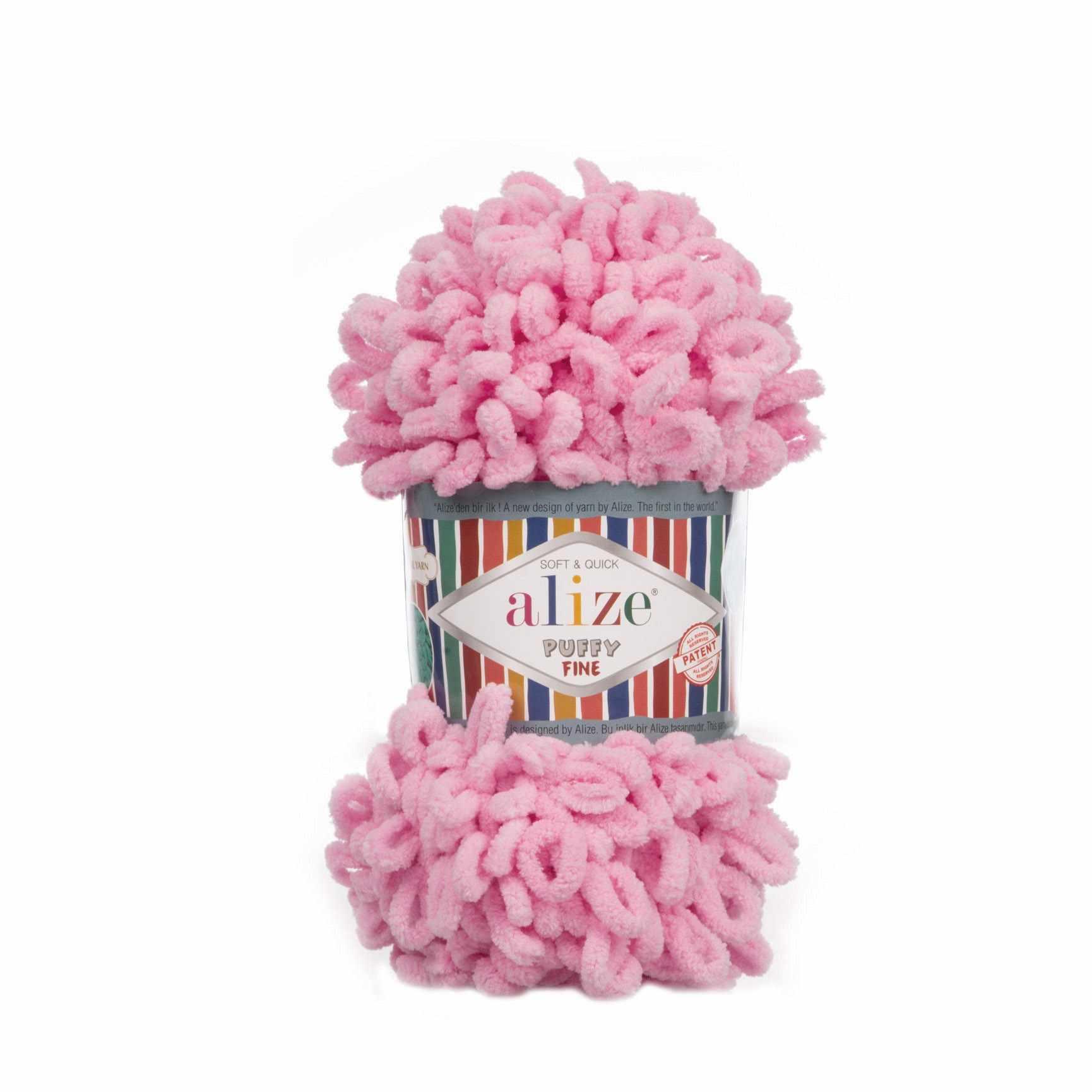 Пряжа Alize Puffy Fine Цвет.039 Розовый