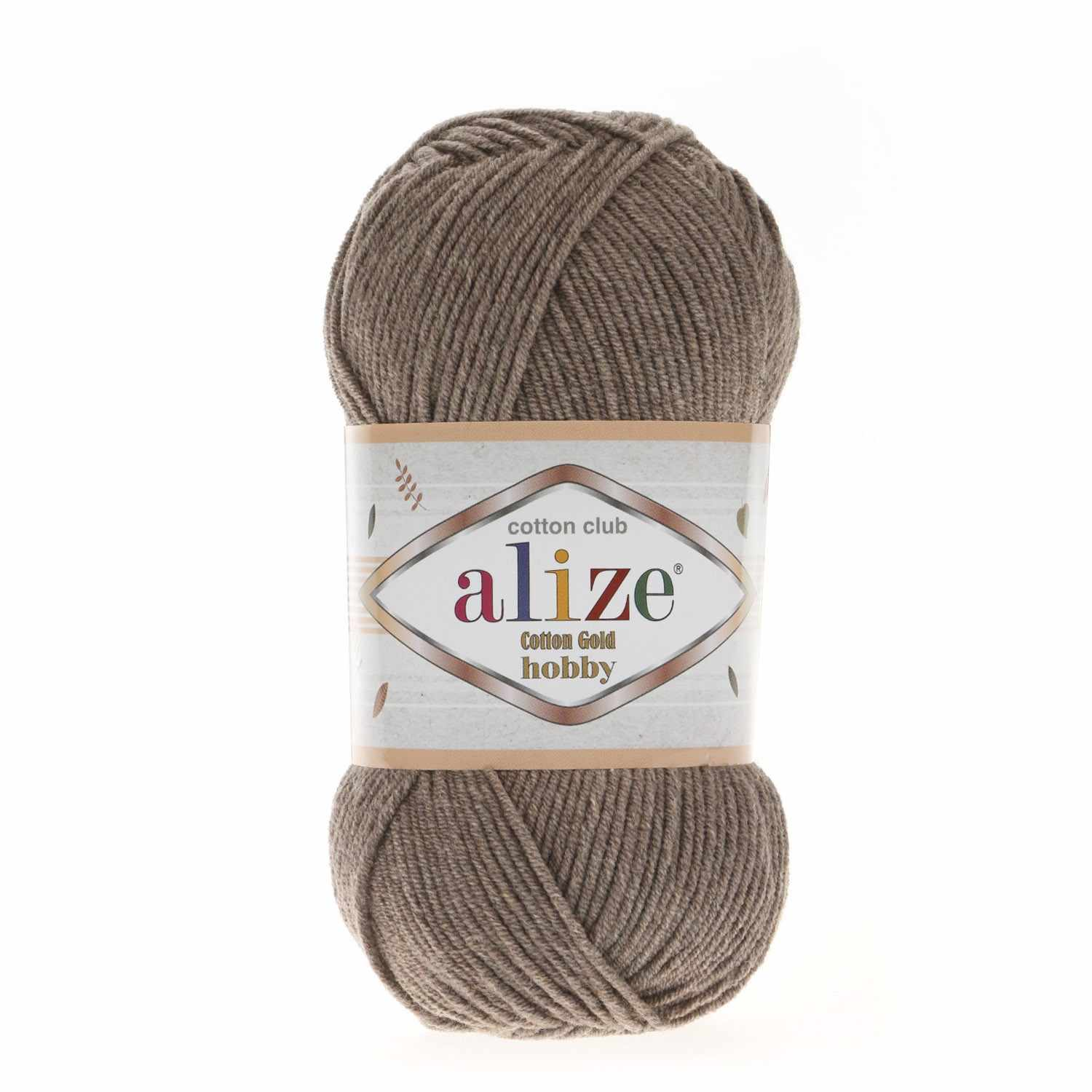 Пряжа Alize  Cotton Gold Hobby Цвет.688 Кофе