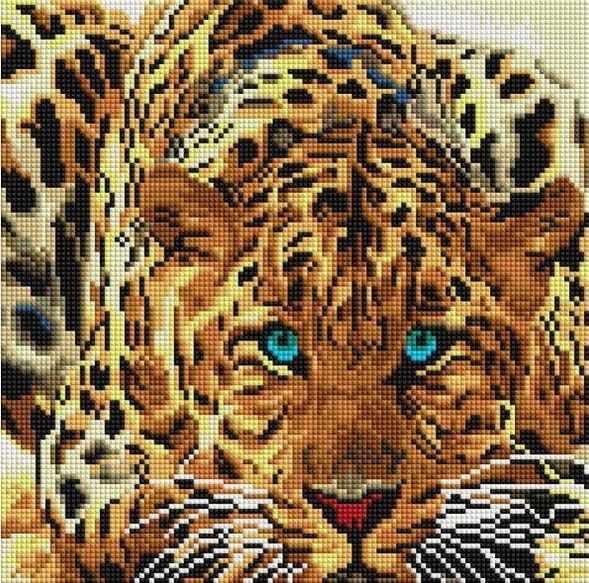 Алмазная вышивка 088-ST-S Леопард