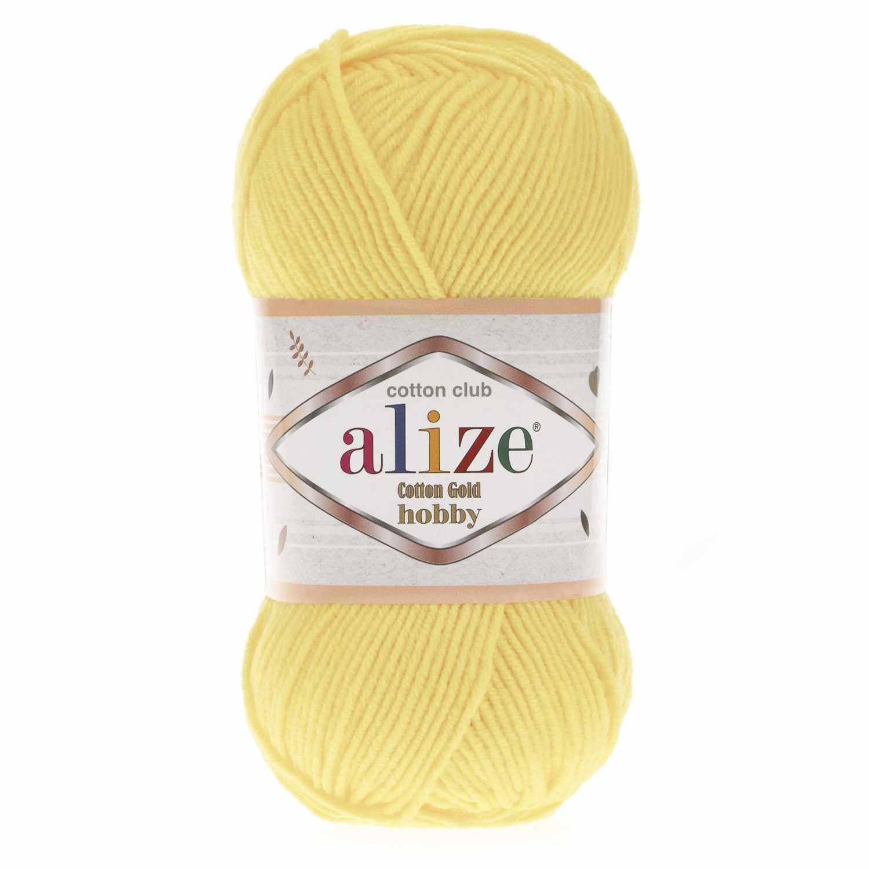 Пряжа Alize Cotton Gold Hobby Цвет.187 Св.желтый