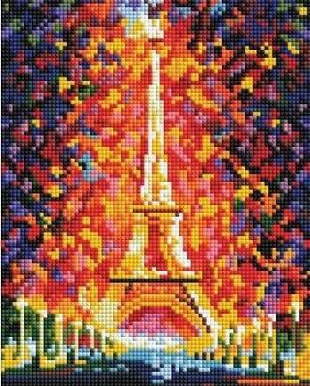 Алмазная вышивка 002-ST-PS Париж - огни Эйфелевой башни