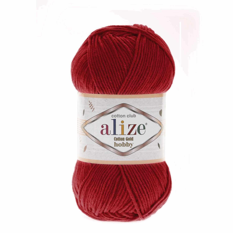 Пряжа Alize Cotton Gold Hobby Цвет.56 Красный