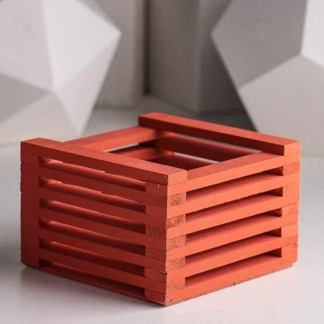 3746560 Ящик для цветов 13 х 13 х 9 см, осенний клён