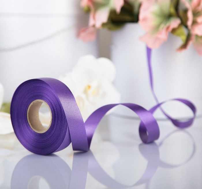 3921006 Лента для декора и подарков, фиолетовая, 2 см х 45 м