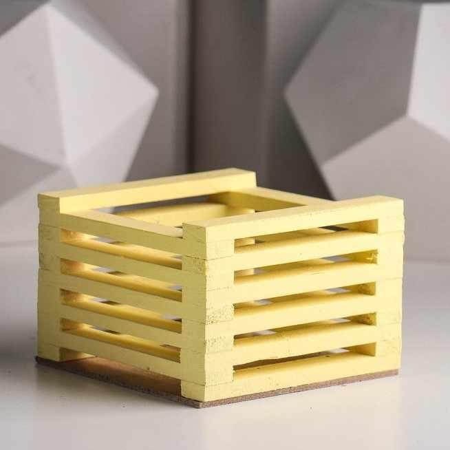 3746556 Ящик для цветов 13 х 13 х 9 см, жёлтый