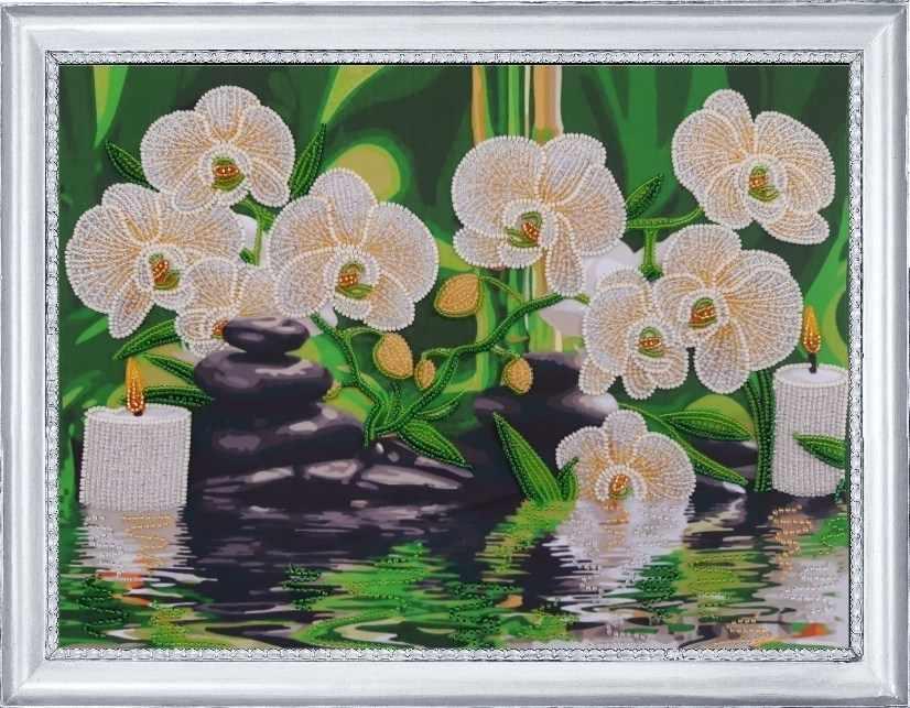 166 Белые орхидеи - Butterfly