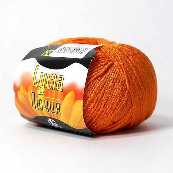 Пряжа Камтекс Лючия Цвет.35 Оранж